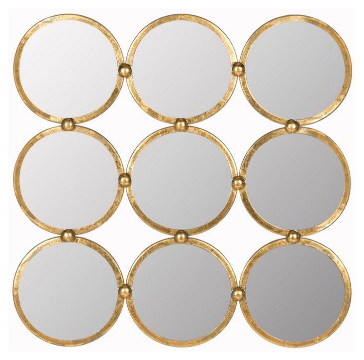 Ainsworth Wall Mirror, Gold