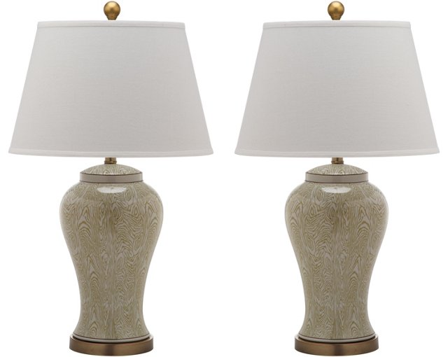 Spring Woods Table Lamp Set, Natural