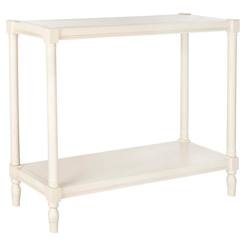 Bella 2-Shelf Console, White