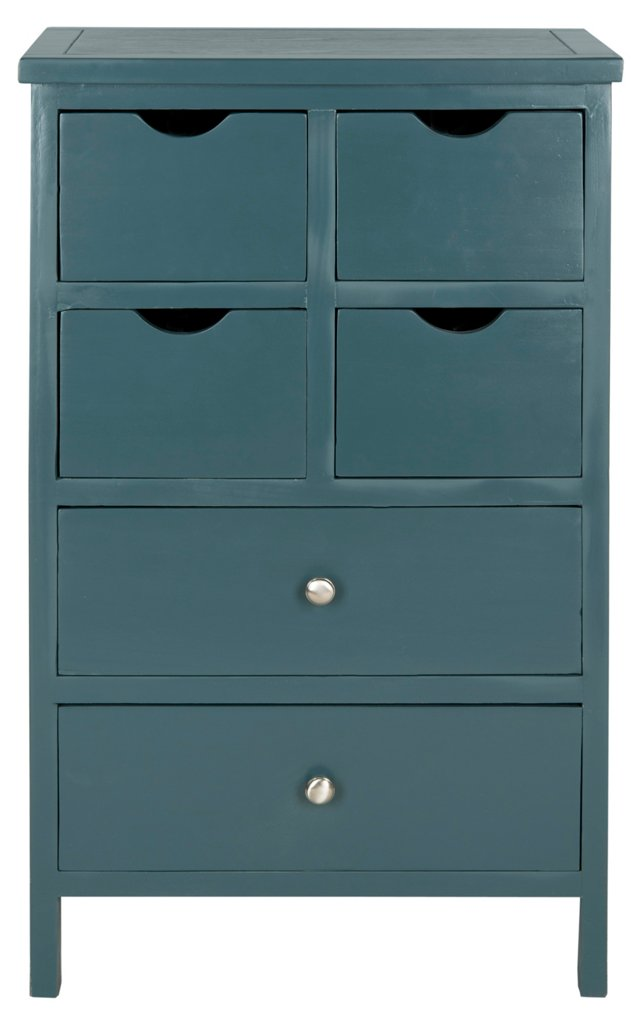 Cayla Lingerie Chest, Teal