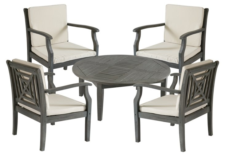 Outdoor Orleans Coffee Set, Gray