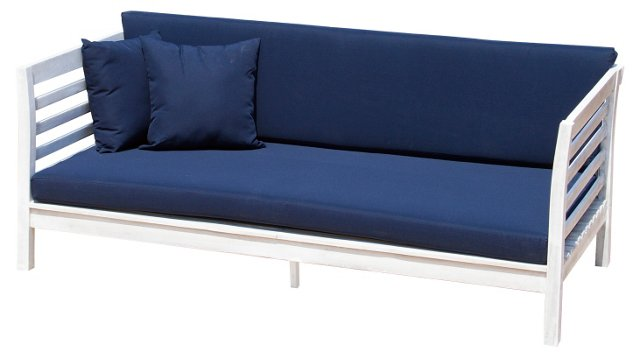 "Outdoor Falmouth 73"" Day Bed, Navy"
