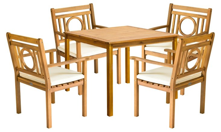 Outdoor Marion Dining Set, Natural