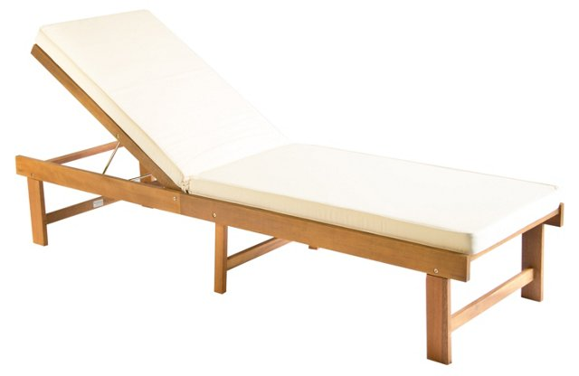 Robbins Outdoor Chaise, Beige/Natural