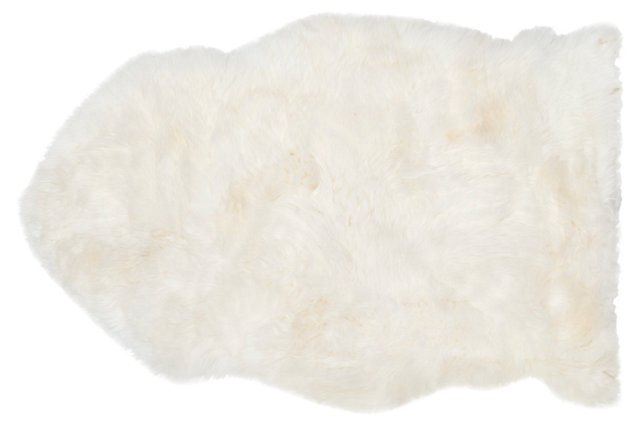 Eliza Natural Sheepskin, White