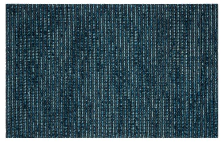 Sumner Hemp Rug, Deep Blue