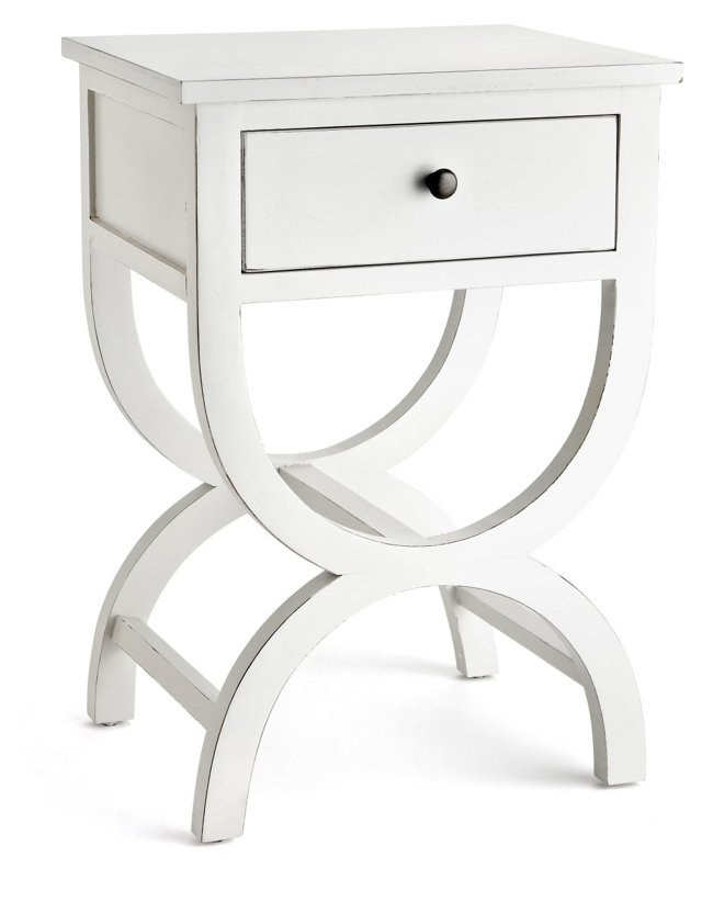 Oliver Nightstand, White