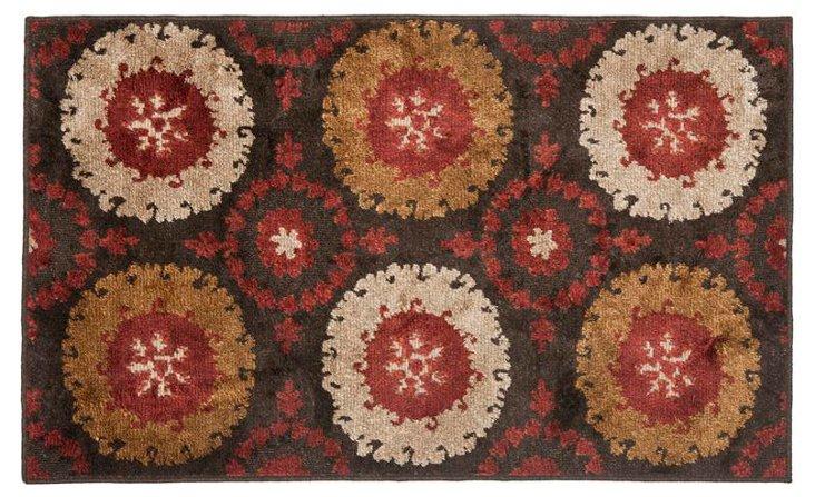 Fararr Rug, Brown/Red/Copper/Beige