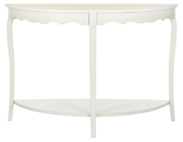 Elling Console, Distressed Ivory