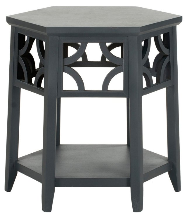 Silas Side Table, Charcoal