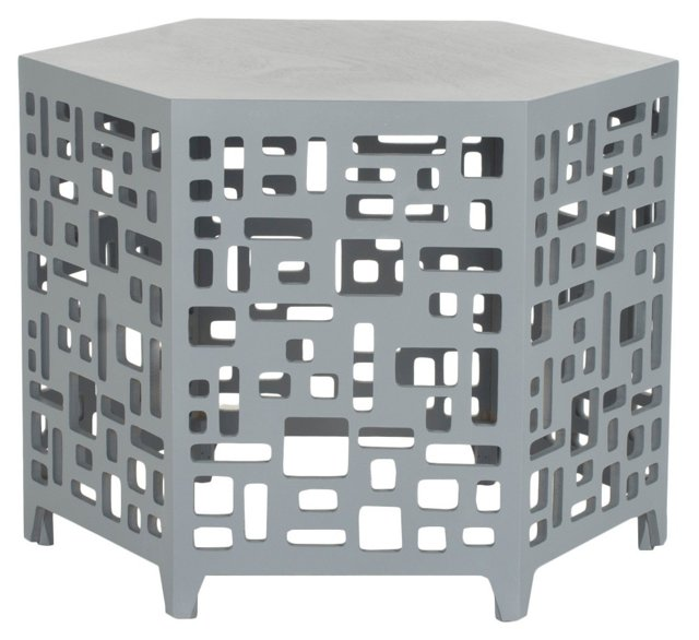 Amina Side Table, Gray
