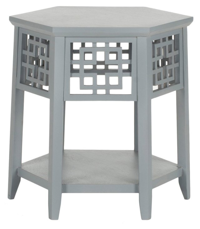 Magnolia Side Table, Gray