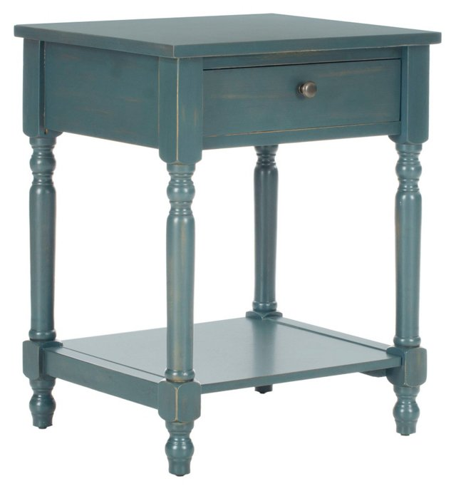 Avery Nightstand, Teal