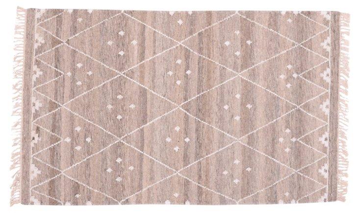 Annie Flat-Weave Rug, Natural