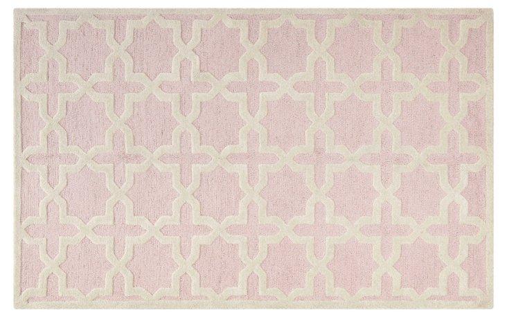 Cassie Rug, Light Pink/Ivory