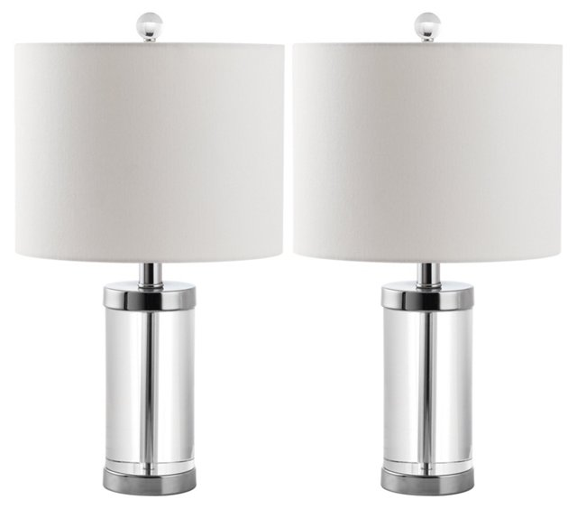 Laurie Table Lamp Set, Crystal