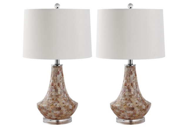 Kobe Table Lamp Set, Shell
