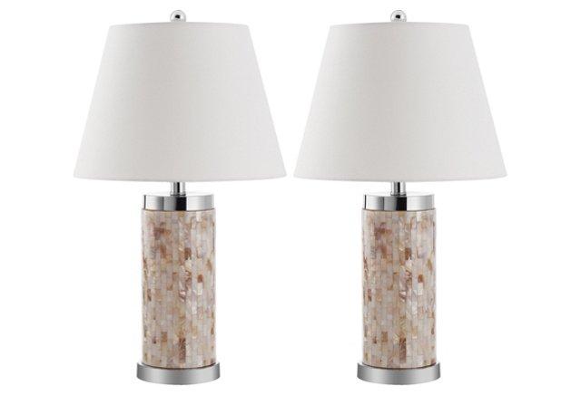 Diana Shell Table Lamp Set