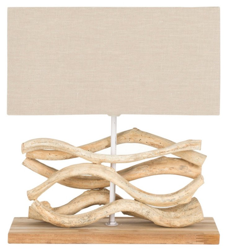 Jackson Table Lamp, Bleached Wood