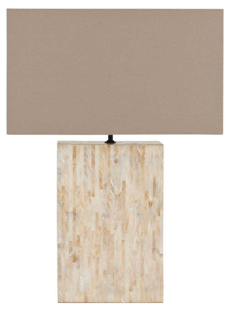 Pearl Line Table Lamp, Brown