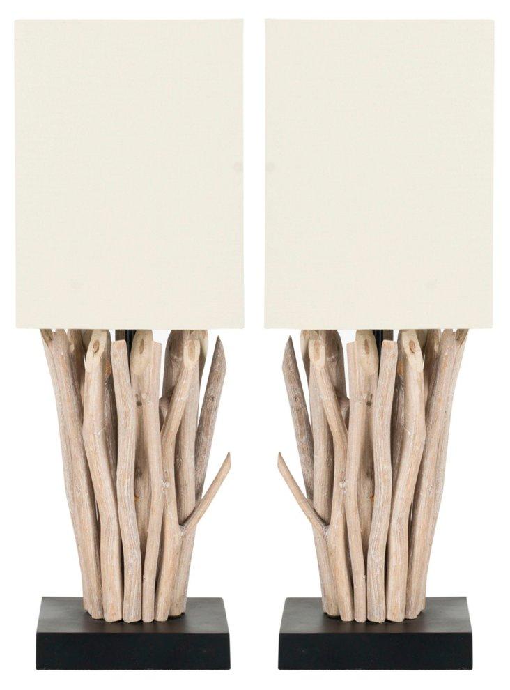 Morro Bay Table Lamp Set, Tree Branches