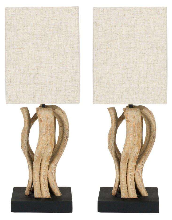Big Sur Table Lamp Set, Beachwood