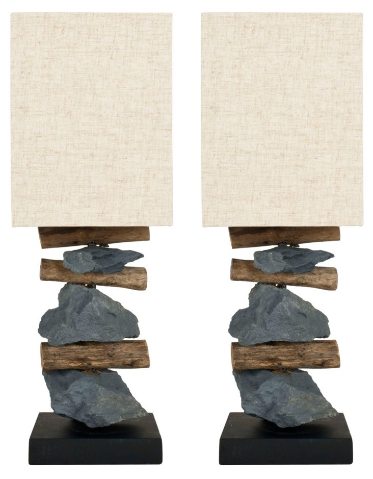 Pismo Table Lamp Set, Gray