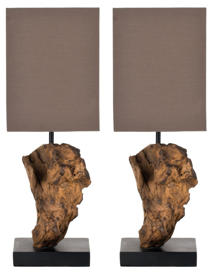 McGrath Root Lamp Set, Brown
