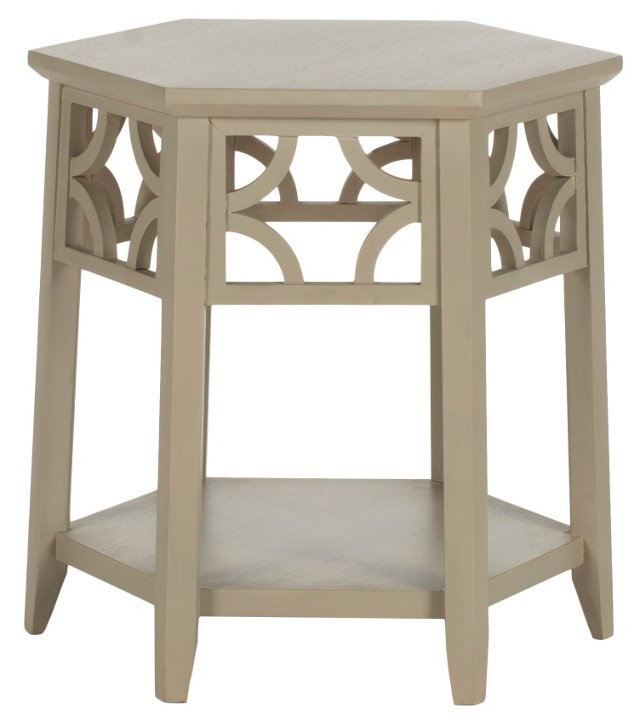 Silas Side Table, Taupe