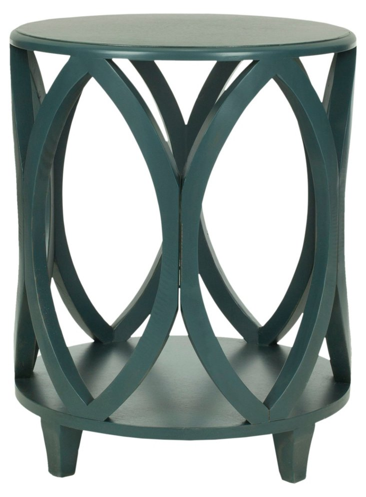 Calvin Side Table, Teal