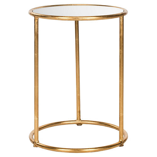 Porter Side Table, Gold