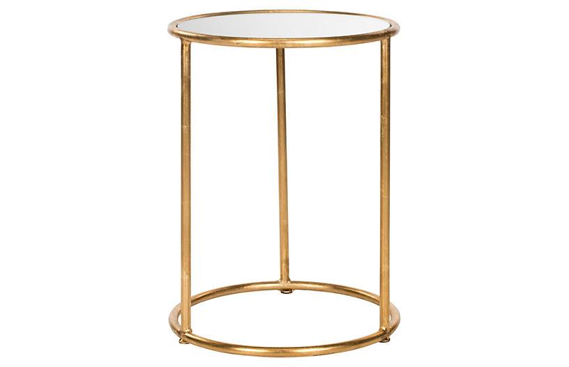 Porter Side Table, Gold