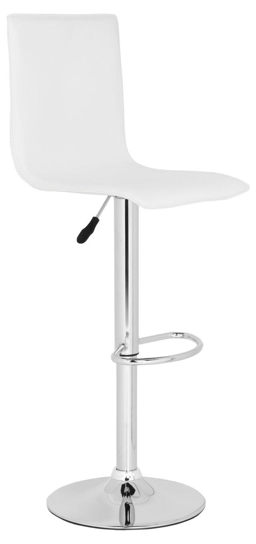 Whitney Adjustable Barstool, White