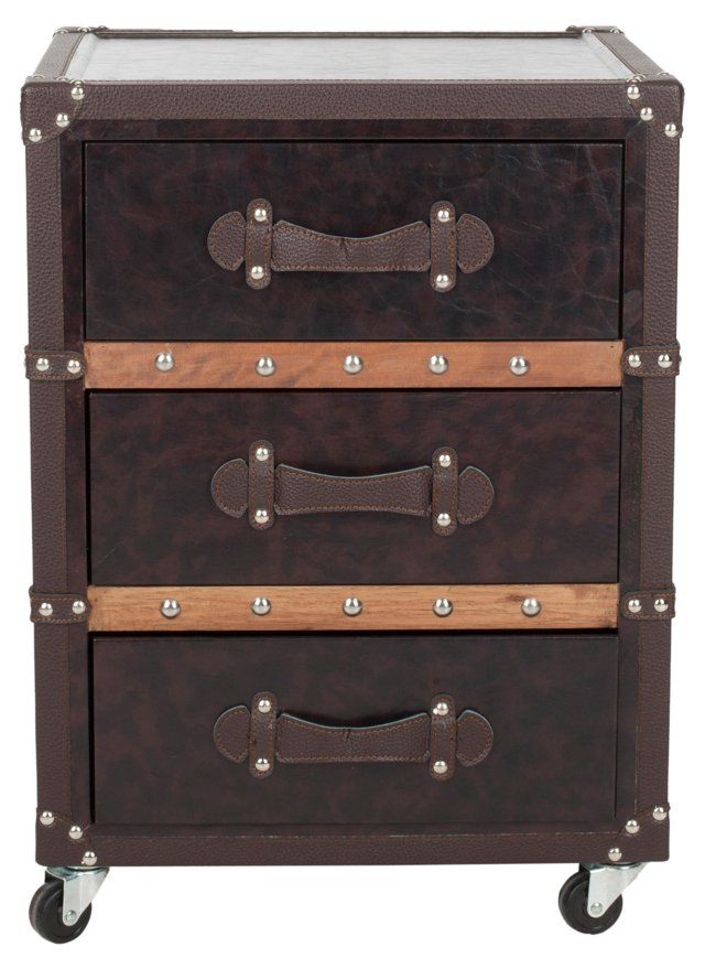 Ray Rolling Chest, Chocolate/Black