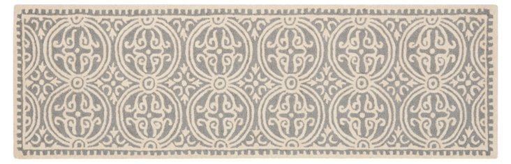 Jay Rug, Silver/Ivory