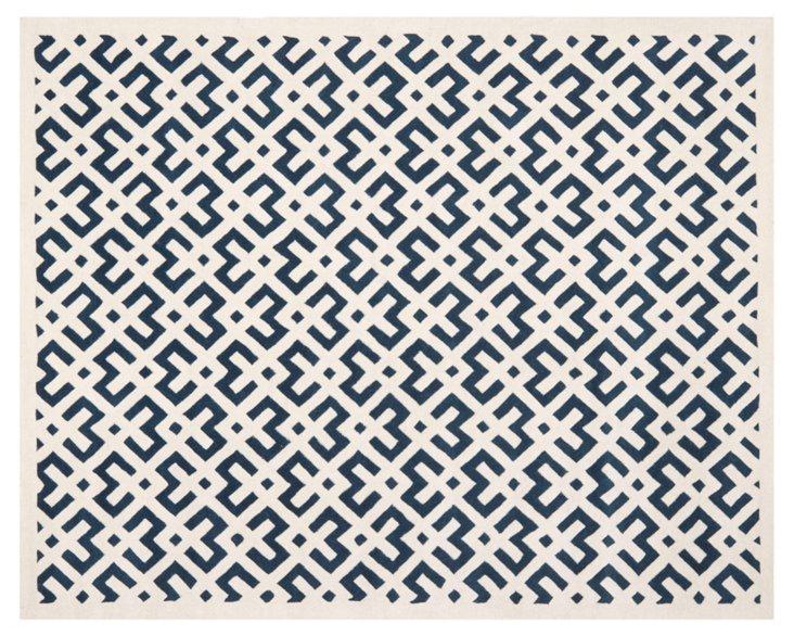 8'x10' Solange Rug, Navy/Ivory