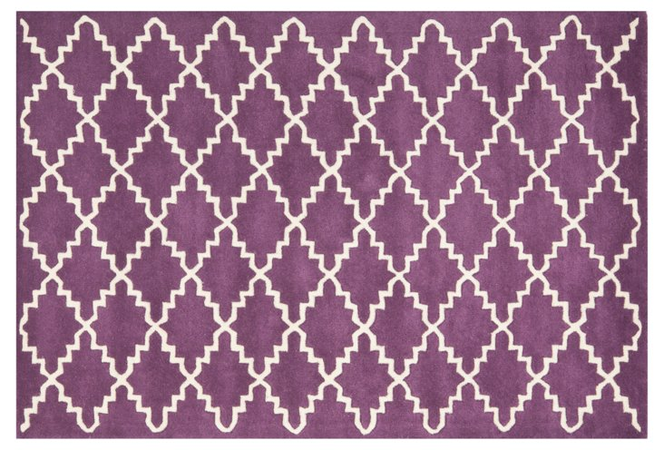 Rexford Rug, Purple/Ivory