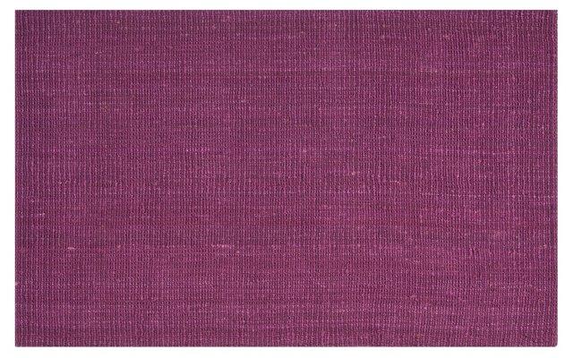 8' Square Ale Sisal Rug, Purple