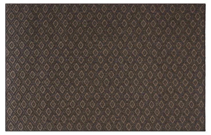 Diamond Sisal-Blend Rug, Brown