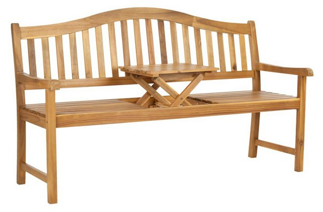 "Outdoor 63"" Putnam Bench, Natural"