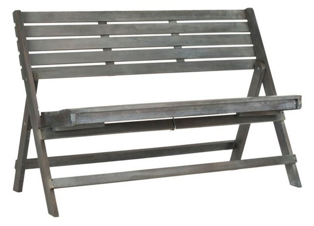 "Outdoor Cabot 48"" Folding Bench, Gray"