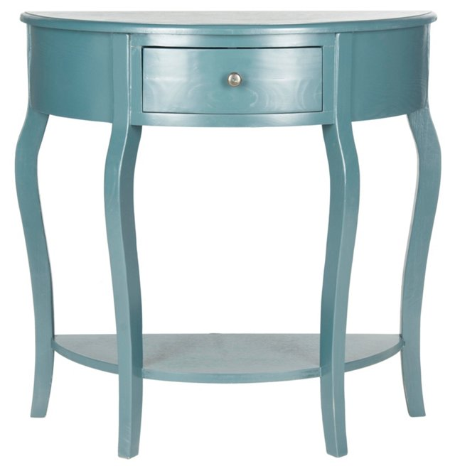 Hope Demilune Console, Blue