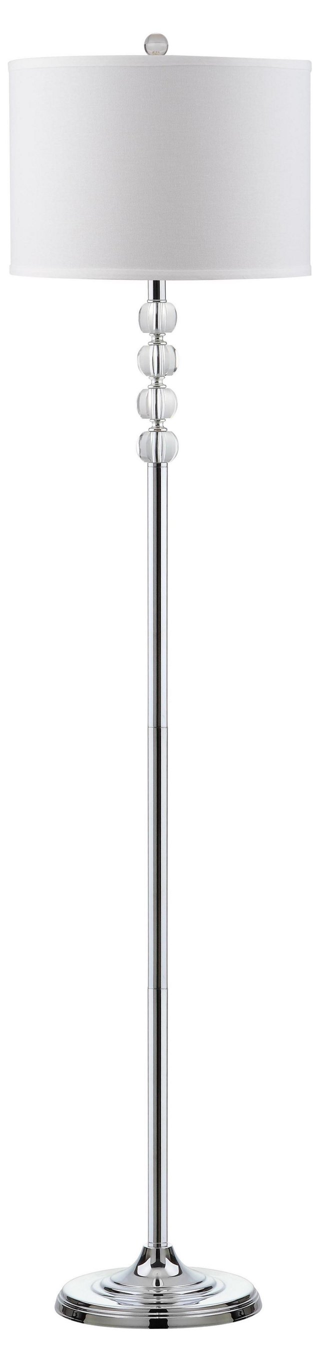 Vendome Floor Lamp, Crystal/Chrome
