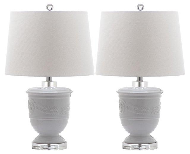 Shoal Table Lamp Set, White