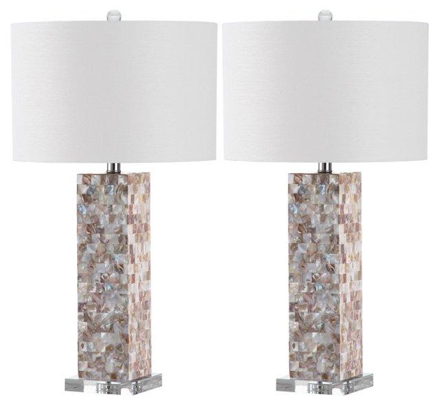 Michael Table Lamp Set, Shell