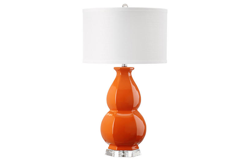 Carter Table Lamp, Orange