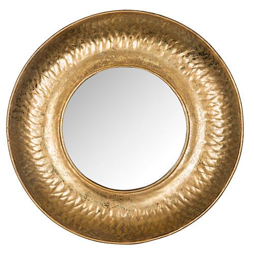 "Perugia 33"" Etruscan Wall Mirror, Gold"