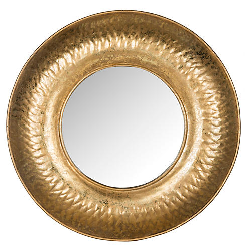 "Perugia 33"" Etruscan Wall Mirror, Gold"