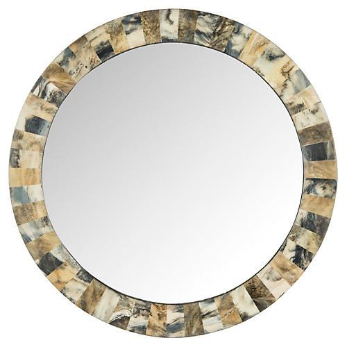 Etienne Faux Tigers Eye Wall Mirror