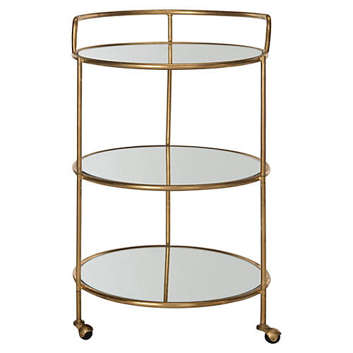 Dominika Bar Cart, Gold